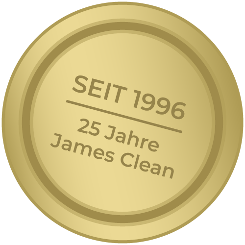 Label - Wischen ist Macht JAMES CLEAN GMBH Ihr Servicepartner seit 1996 aus Mönchengladbach